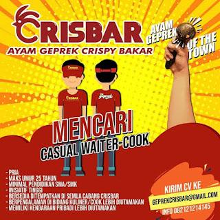 Lowongan Ayam Geprek Crisbar Bandung Terbaru 2020