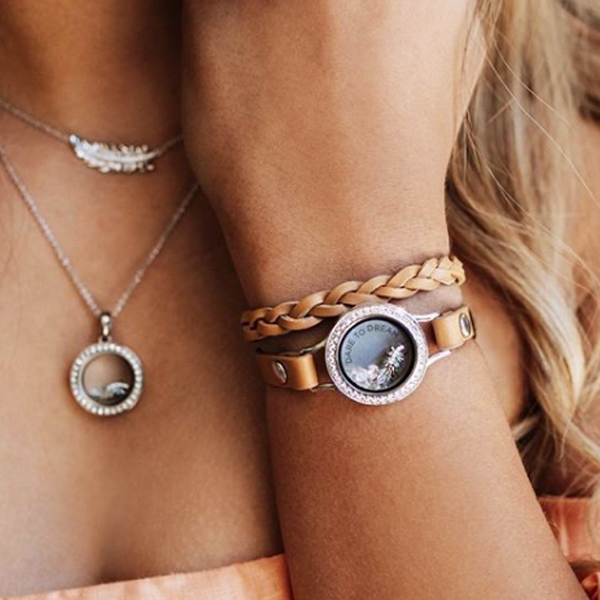 Origami Owl Link Locket Bracelet-Rose Gold-New-Authentic-Retired | 600x600