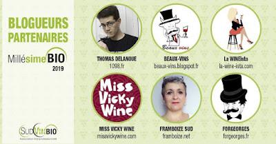 Millésime Bio 2019 vin SudVinBio blogueur officiel Beaux-Vins 1098.fr la WINEista Miss Vicky Wine Framboize Sud ForGeorges