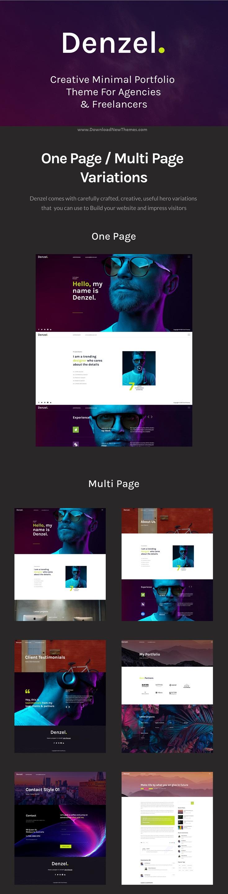 Creative Minimal Portfolio WordPress Theme