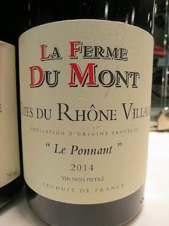 La Ferme Du Mont Le Ponnant Côtes du Rhône Villages 2014 (89 pts)