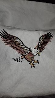 embroidered eagle
