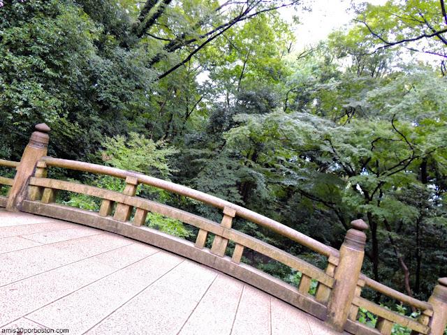 Puente de Piedra en el Camino del Santuario Meiji