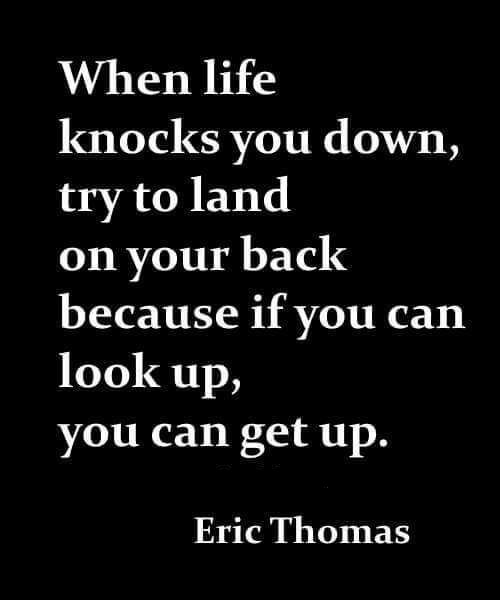 when life knocks you down get back up quotes