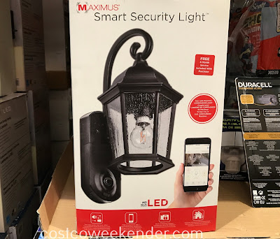 Light up your entryway and improve your security with the Maximus Smart Security Coach Light
