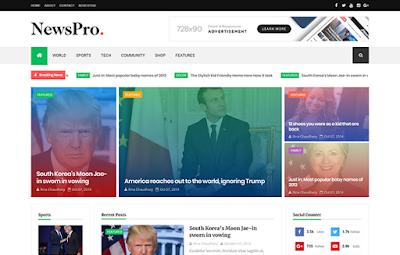 Newspro - Premium Blogger Template Free Download