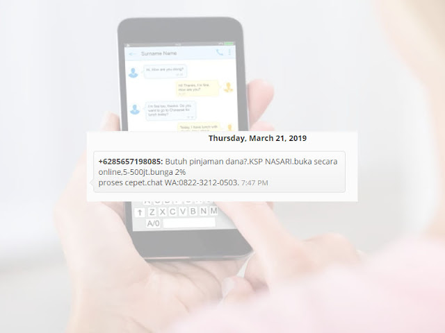 SMS SPAM +6285657198085