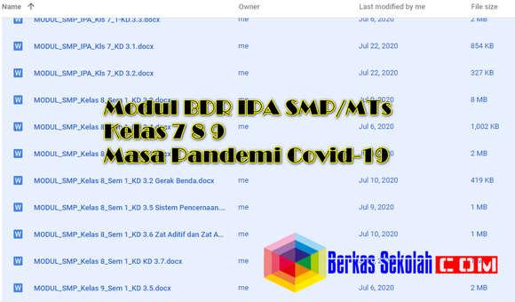 Modul BDR IPA Kelas 7, 8, 9 SMP Semester 1