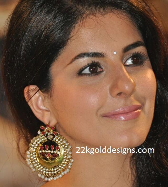 Heroine wear chandbali earrings