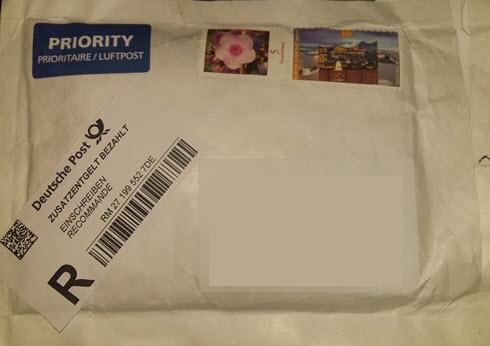 Deutsche Post delivery to Kuching Sarawak Malaysia