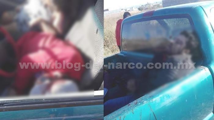 Imagenes del terror; Encuentran troca con 4 ejecutados en Salamanca