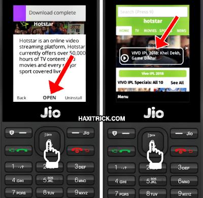 Open Hotstar App in JioPhone