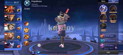 Script Skin Mod Painted Hayabusa Mobile Legends Patch Terbaru