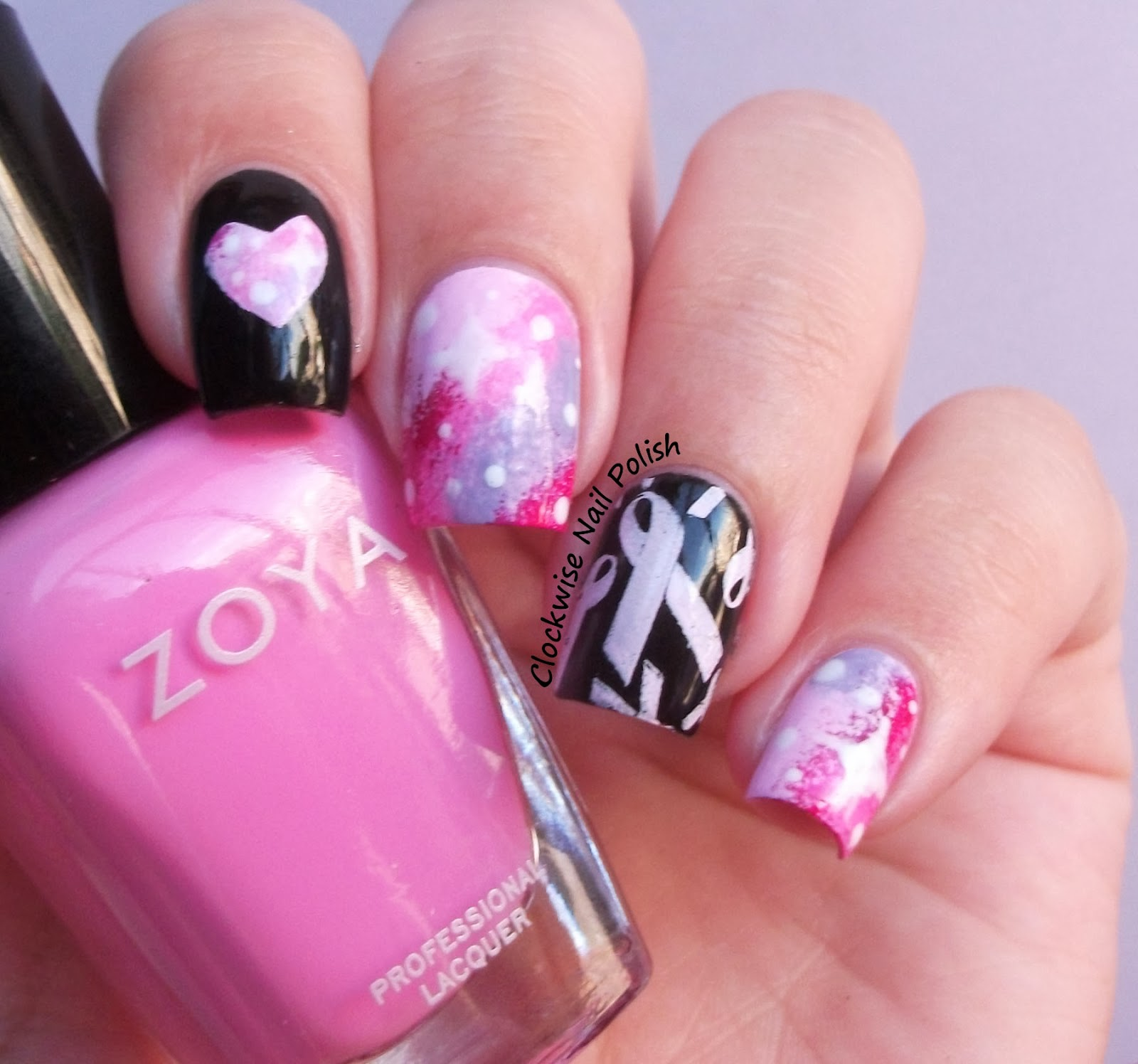 The Clockwise Nail Polish: Pink Nails for Breast Cancer ...