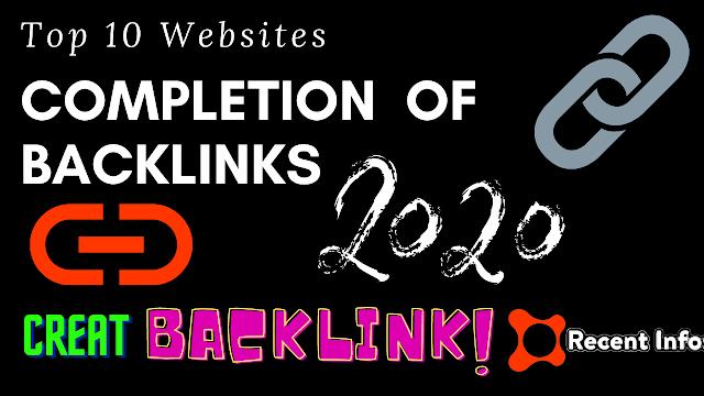 Free High PR Backlinks Site List 2020.