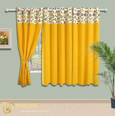 Phòng ngủ màu vàng kem 12