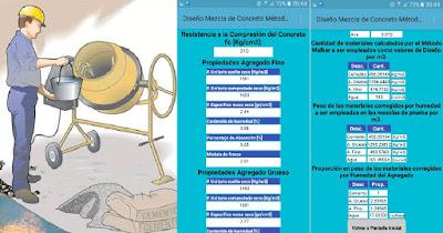 Android Diseño Mezcla Dosificacion Hormigon Concreto