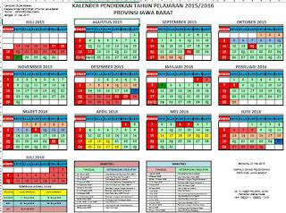 kalender pendidikan 2015/2016