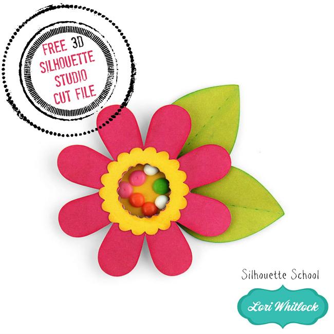 Free Silhouette cut file, Free 3D paper shaker flower Silhouette Studio cut file