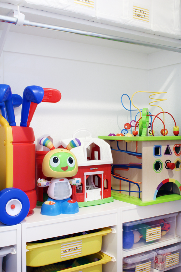 how to organize and store big toys