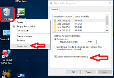 How to Get Back Ask Before Deleting Option in Windows 10 (Display delete confirmation dialog),Display delete confirmation dialog in windows 10,ask before delete,set option for deleting,windows 10 deleting option,delete confirmation,deleting data,aks before deleting file,windows 10 delete permission,activate option,ask permission for delete,ask before remove,confirmation dialog box,Permission to delete file,Confirm before delete,recycle bin Display delete confirmation dialog in windows 10   click here for more detail..