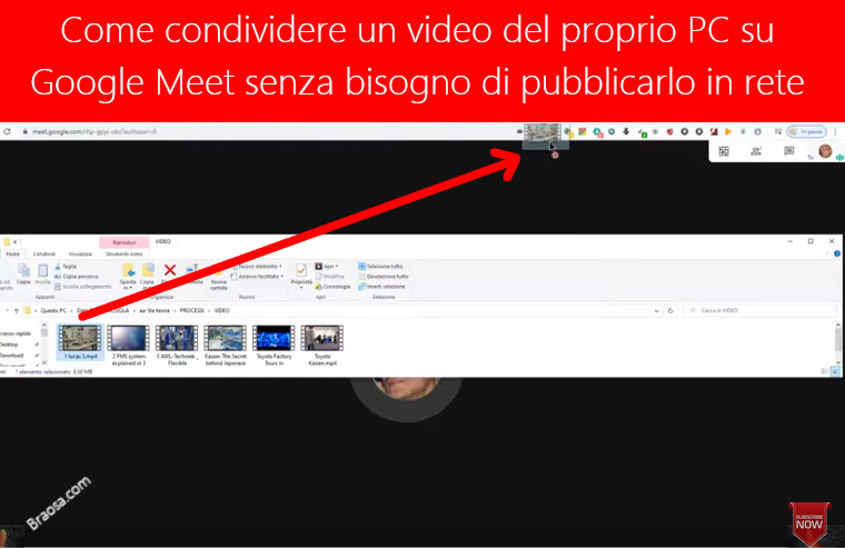 Come far sentire l'audio dei video presenti sul nostro PC su Google Meet