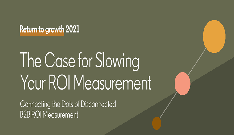 Making the Case for Slowing Your ROI Measurement #infographic
