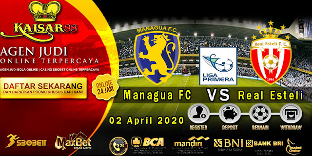 Prediksi Bola Terpercaya Liga Clausura Managua FC vs Real Esteli 02 April 2020