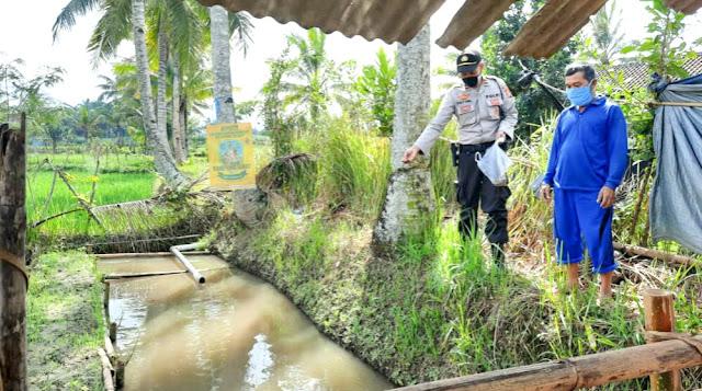 Kampung Sehat, Kapolsek Montong Gading Bina Masyarakat Pembudidaya Ikan