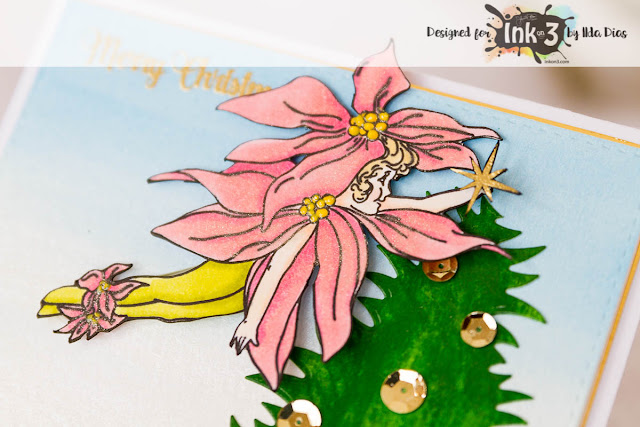 Fairy Christmas Slider Cards for Ink On 3 by ilovedoingallthingscrafty