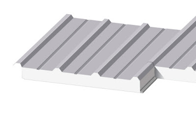 mái tôn panel pu
