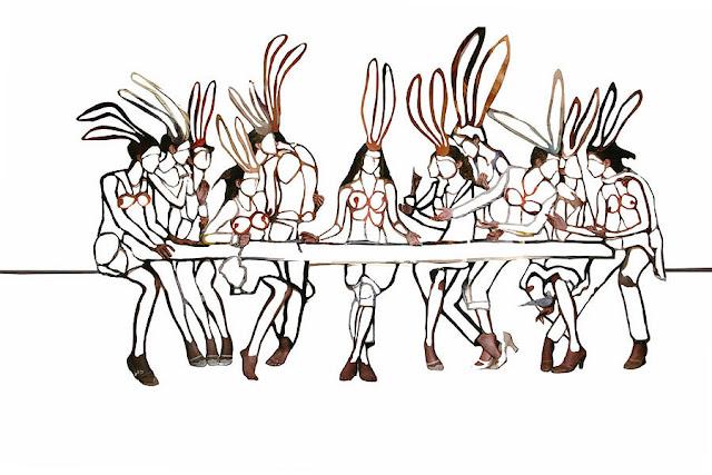 Artist Lidy Jacob's Rabbit's Last Supper