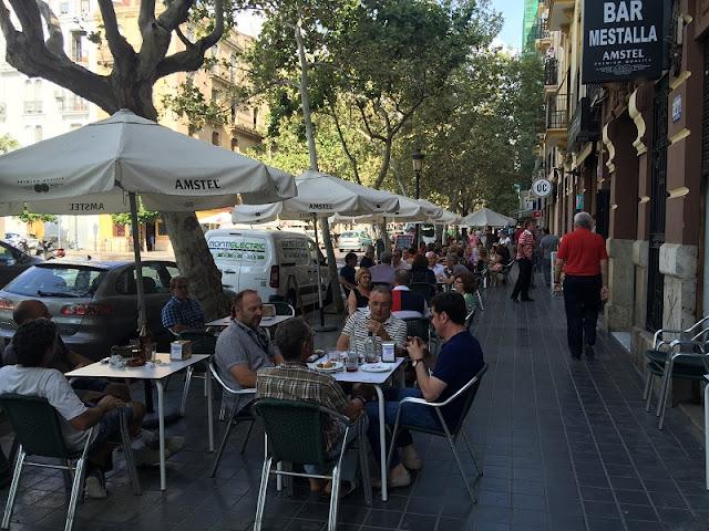 Terraza del bar Mestalla