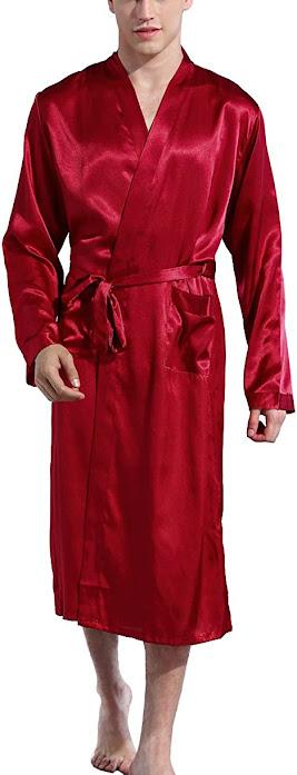 Good Red Satin Robes For Men