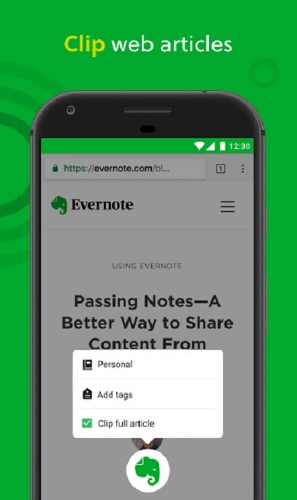 Apps for students Evernote app