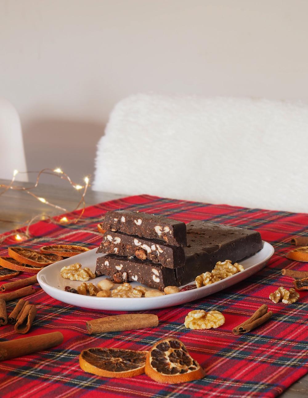 Turrón de chocolate casero sin azúcar5