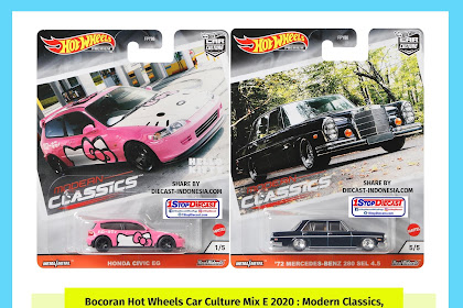 Bocoran Hot Wheels Car Culture Mix E 2020 : Modern Classics, Pink Manja dan Hitam Motuba (HD Pics)