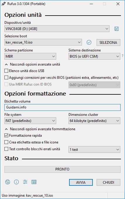Rufus 3.0 interfaccia grafica