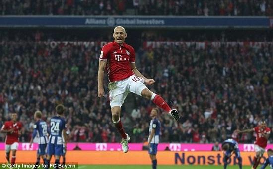 Robben có màn trở lại đầy ấn tượng.