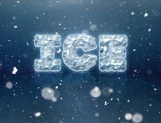 cara membuat efek teks es di photoshop
