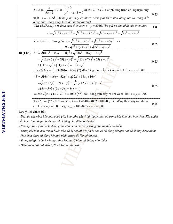trang pdf dap an thi thu vinh phuc lan 3 2016