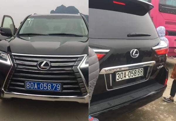 Chiếc xe sang Lexus 570 2 biển số trắng - xanh là của sư chùa, sư giờ giàu thật