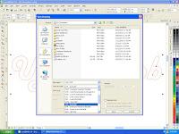Mengubah file corelDraw ke Artcam