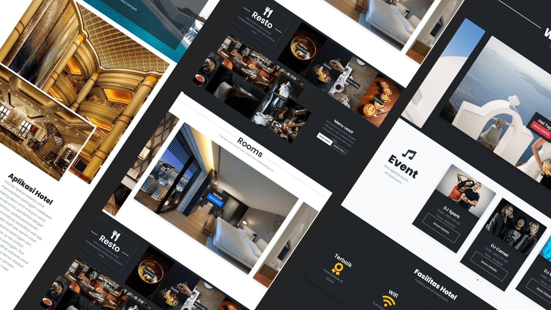 aplikasi website restoran cafe rumah makan