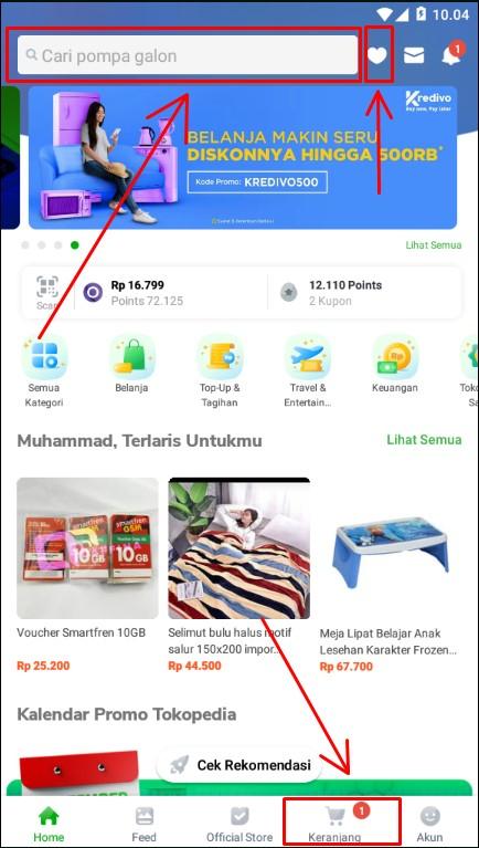 Mencari Produk Impian di Aplikasi Marketplace Tokopedia.
