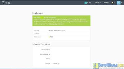 Konfirmasi penukaran poin online survey I-Say Indonesia | SurveiDibayar.com
