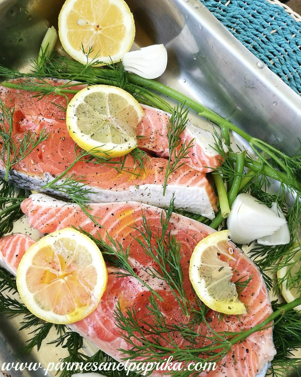saumon citron aneth au four parmesan et paprika. Black Bedroom Furniture Sets. Home Design Ideas