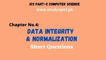 ics part 2 computer data integrity and normalization short questions