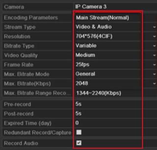 Konfigurasi Rekaman CCTV