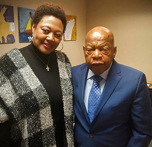 Janet with Congressman John Lewis
